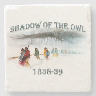 Shadow of the Owl 1838-39 Stone Coaster