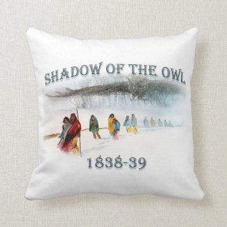 Shadow of the Owl 1838-39 Throw Pillow