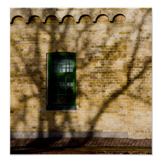 Shadow on a window photo poster