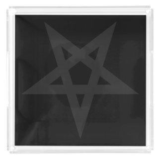 Shadow Pentagram Acrylic Tray
