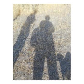 shadow people along the Oregon Ttrail Postcard