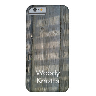 Shadow Planks Wood Deck Knotty_personalized Barely There iPhone 6 Case