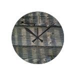 Shadow Planks Wood Deck Knotty Wall Clocks