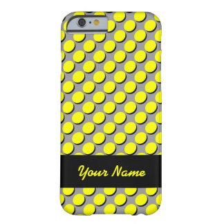 Shadow Polka Dots, Yellow/Black, add your name Barely There iPhone 6 Case