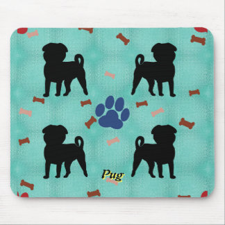 Shadow Pug Mouse Pad