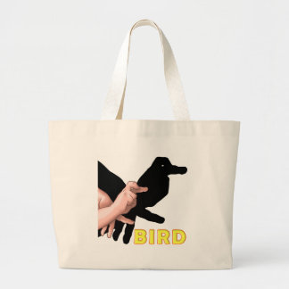 SHADOW PUPPET BIRD LARGE TOTE BAG