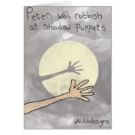 Shadow Puppet themed greetings card