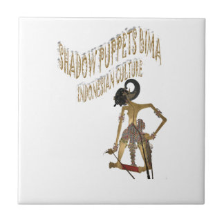 Indonesian ceramic tiles zazzle shadow puppets bima indonesian culture ceramic tile pronofoot35fo Gallery