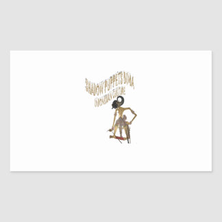 Shadow Puppets Bima Indonesian culture Rectangular Sticker