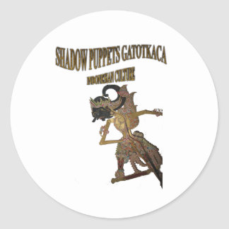 Shadow Puppets Gatot Kaca Indonesian culture Classic Round Sticker