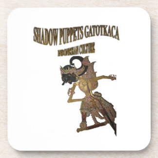 Shadow Puppets Gatot Kaca Indonesian culture Drink Coaster