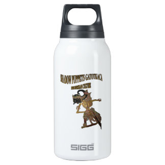 Shadow Puppets Gatot Kaca Indonesian culture Insulated Water Bottle