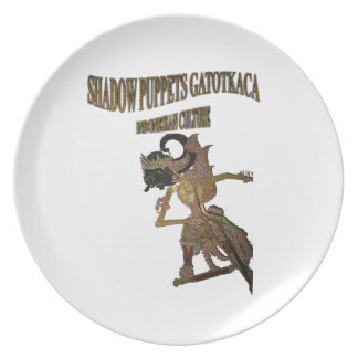 Shadow Puppets Gatot Kaca Indonesian culture Plate