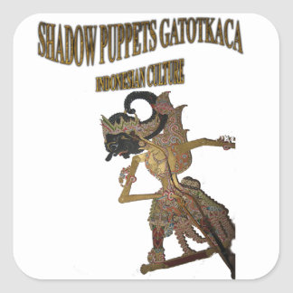 Shadow Puppets Gatot Kaca Indonesian culture Square Sticker