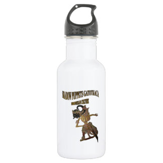 Shadow Puppets Gatot Kaca Indonesian culture Stainless Steel Water Bottle