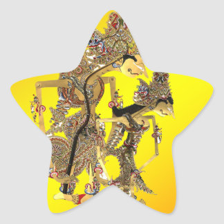 Shadow Puppets Indonesian Star Sticker
