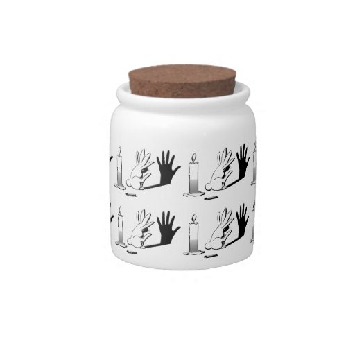 Shadow Rabbit by LightIllusions.com Candy Jar