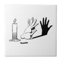 Shadow Rabbit by LightIllusions.com Ceramic Tile