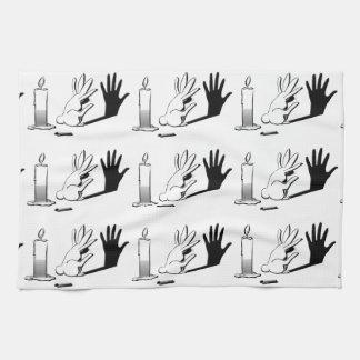 Shadow Rabbit by LightIllusions.com Kitchen Towel