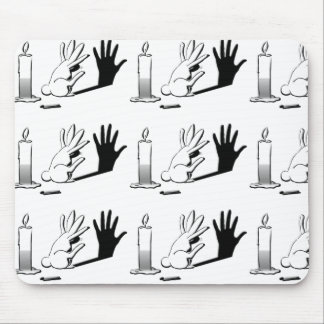 Shadow Rabbit by LightIllusions.com Mouse Pad