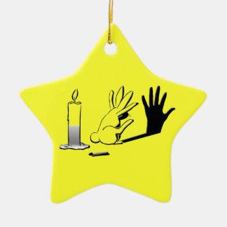 Shadow Rabbit by LightIllusions.com Ornaments