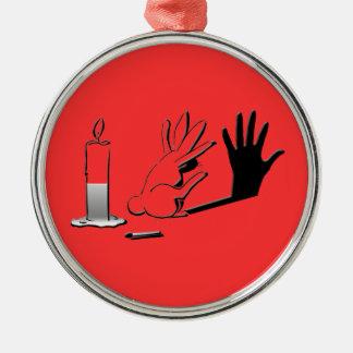 Shadow Rabbit by LightIllusions.com Christmas Ornaments