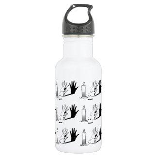 Shadow Rabbit by LightIllusions.com 18oz Water Bottle