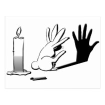 Shadow Rabbit by LightIllusions.com Postcard