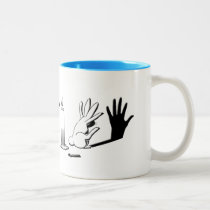 Shadow Rabbit by LightIllusions.com Two-Tone Coffee Mug