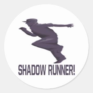 Shadow Runner Classic Round Sticker