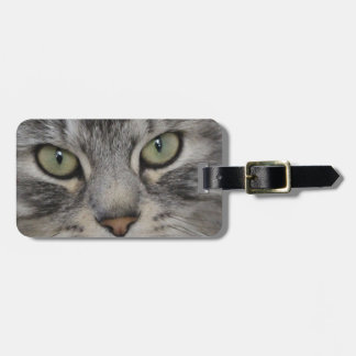 Shadow Silver Tabby Persian Cat Luggage Tag