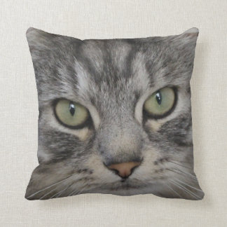 Shadow Silver Tabby Persian Cat Polyester Cushion Pillow