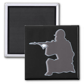 Shadow Soldier 2 Inch Square Magnet