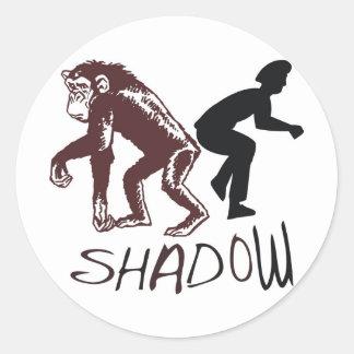 Shadow Round Stickers