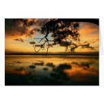 Shadow Sunset Greeting Card