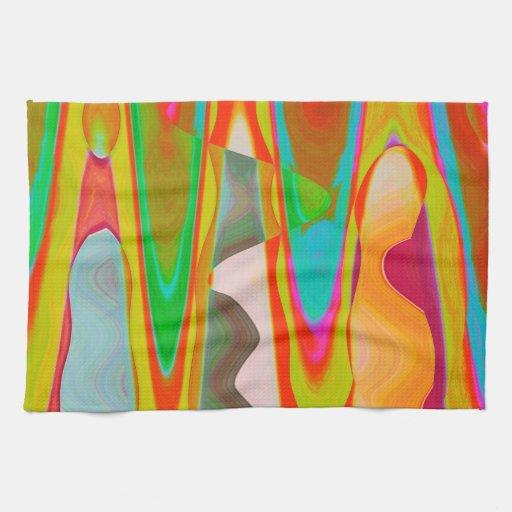 Shadow Talk - Acrylic Oriental Color Art Kitchen Towels