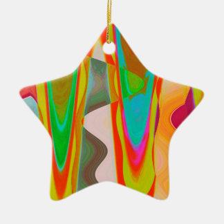 Shadow Talk - Acrylic Oriental Color Art Christmas Ornament