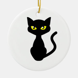 Shadow the Black Cat Ceramic Ornament