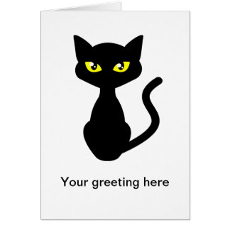 Shadow the Black Cat Greeting Card