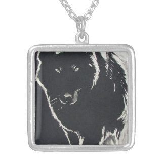 Shadow Wolf Silver Plated Necklace