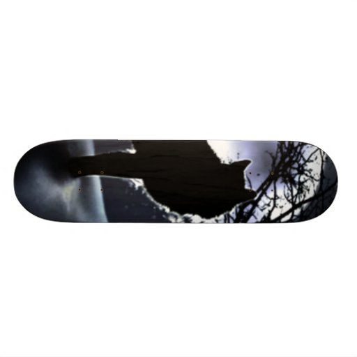 shadow_wolf skateboard deck