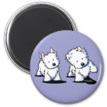 Shadowboxing Westies 2 Inch Round Magnet