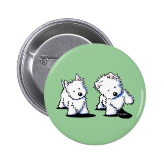 Shadowboxing Westies Buttons