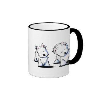 Shadowboxing Westies Ringer Coffee Mug