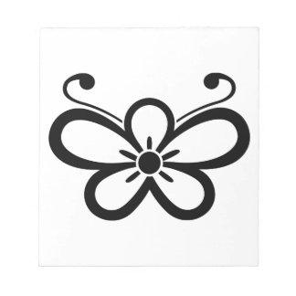 Shadowed butterfly-shaped plum blossom (Kocho) Notepad