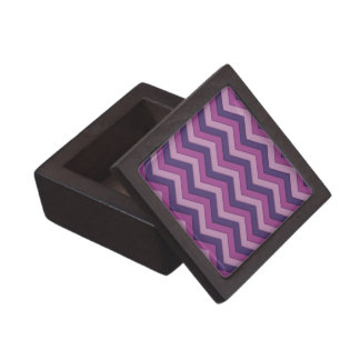 Shadowed Chevron in Shades of Purple Premium Gift Boxes