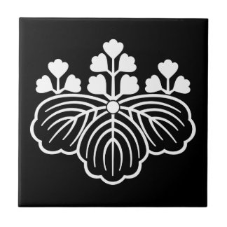 Shadowed paulownia with 5&3 blooms ceramic tile