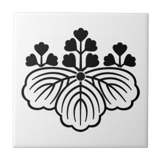 Shadowed paulownia with 5&3 blooms tile