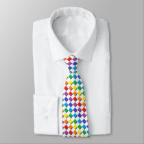 Shadowed Rainbow Diamonds Neck Tie