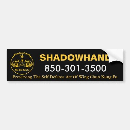 Shadowhand Wing Chun Bumper Sticker Car Bumper Sticker